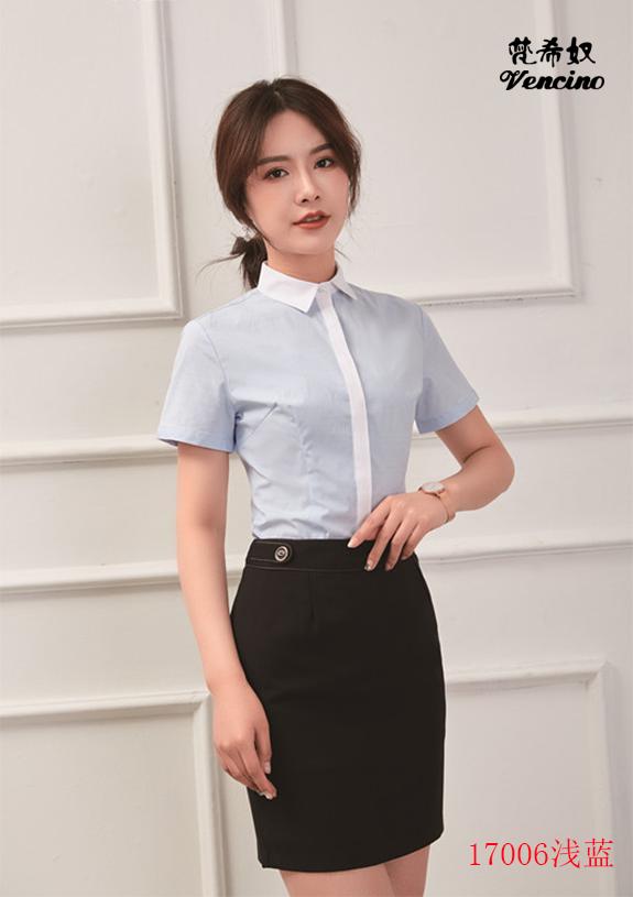 女士短袖衬衫